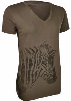116 009 T-shirt Zebra dámský olivový.jpg